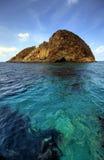 Small Mediterranean island. Near Palmarola stock images