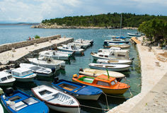 Small Mediterranean port Royalty Free Stock Image