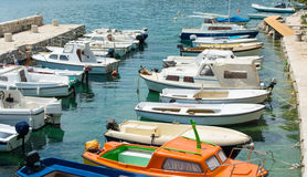 Small Mediterranean port Royalty Free Stock Photos