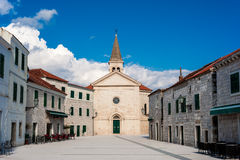Small mediterranean town in southern Dalmatia Stock Images
