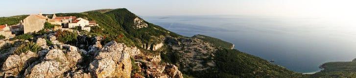 Small Mediterranean village panorama Stock Photography
