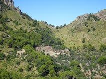 Small mediterranean village on the way to Sa Calobra, Mallorca. Ballears Stock Image