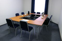Small meeting room. With window in front Stock Images