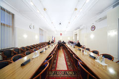 Small meeting in room of State Duma Royalty Free Stock Photos