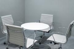 Small meeting room. Table and chair Royalty Free Stock Photos