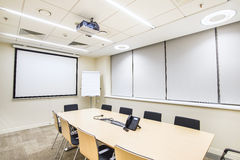 Small meeting or training room with TV projector Royalty Free Stock Images