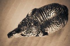 Small metal elephant figurine Stock Photo