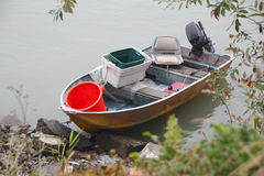 Small Metal Fishing Boat Royalty Free Stock Images