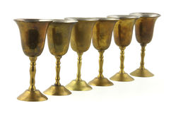 Small metal goblets Royalty Free Stock Images