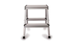 Small metal ladder Clipping path Royalty Free Stock Image