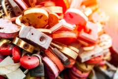 Small metal locks Royalty Free Stock Photo