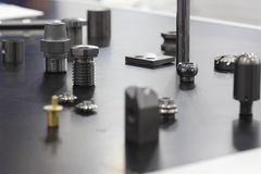 Small metal mechanical spare parts Stock Image