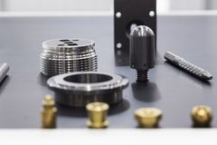 Small metal mechanical spare parts Royalty Free Stock Photos