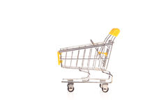 Small metal shopping cart Royalty Free Stock Photos