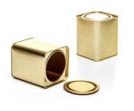 Small metal tea box Royalty Free Stock Images