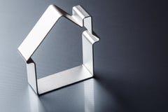 Small metallic house Royalty Free Stock Image