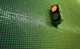 Small metro stop light. Background image of a european mini stop light inside the metro fo barcelona spain Stock Photography