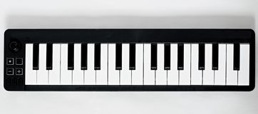 Small MIDI keyboard Royalty Free Stock Image