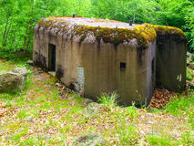 Small military bunker in czech border area Royalty Free Stock Photography