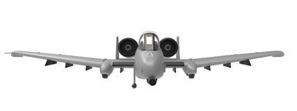 A small military plane of the US and NATO countries. 3D illustration. A small military plane of the US and NATO countries. 3D illustration Stock Photos