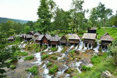 Small mill in the area of Plic lakes, Bosnia-Herzegovina Stock Image