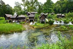 Small mill in the area of Plic lakes, Bosnia-Herzegovina Royalty Free Stock Image