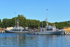Small minesweepers Stock Image