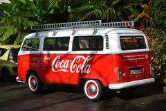Small minibus Coca Cola Stock Photography
