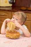 A small mischievous child Royalty Free Stock Photos