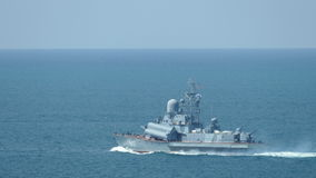 Small missile boats Russia stock video footage
