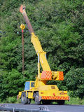 Small mobile crane Royalty Free Stock Photo