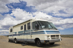 Small mobile home stock image