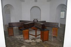 Small model of the Cellular Jail, also known as Kala Pani, Port Blair, Andaman and Nicobar Islands. Small model of the cellular Jail was a colonial prison stock photos