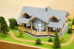 Small model of cottage Stock Photo