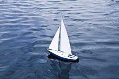 Small model of sailboat Royalty Free Stock Photography