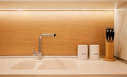 Small Modern Kitchen stock photo