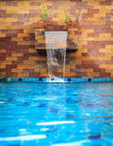 Small modern spa pool with water flow Stock Photos