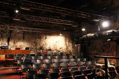 Small modern theater in a cave near the old railway station Stock Photography