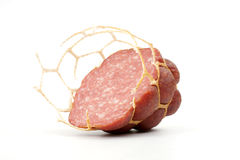 Small modest slice of sausage Royalty Free Stock Photos