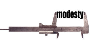 Small modesty concept Stock Image