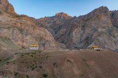 Small monastery under the mountains in Ladakh, India Royalty Free Stock Image