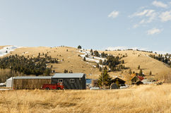 Small Montana Town Stock Images