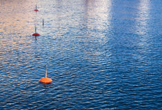 Small mooring buoys Royalty Free Stock Photography