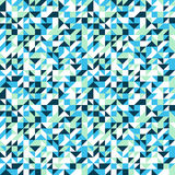 Small mosaic pattern in blue Royalty Free Stock Photo
