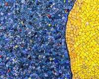 Small mosaic tiles close up pattern royalty free stock photography