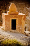 Small mosque. Built in the atlas mountains in Tunisia out of clay and bricks Royalty Free Stock Images