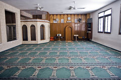 Small mosque interior Royalty Free Stock Photo