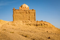 Small Mosque in Tabourahte, Morocco. Traditional construction of small mosque in Tabourahte near Ait Ben Haddou, Morocco Royalty Free Stock Photos