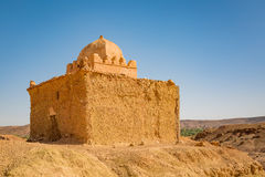 Small Mosque in Tabourahte, Morocco. Traditional construction of small mosque in Tabourahte near Ait Ben Haddou, Morocco Stock Photography