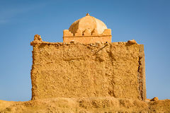 Small Mosque in Tabourahte, Morocco. Traditional construction of small mosque in Tabourahte near Ait Ben Haddou, Morocco Royalty Free Stock Photo